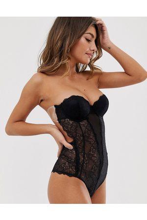Fashion Forms Body senza spalline in pizzo con schiena scoperta