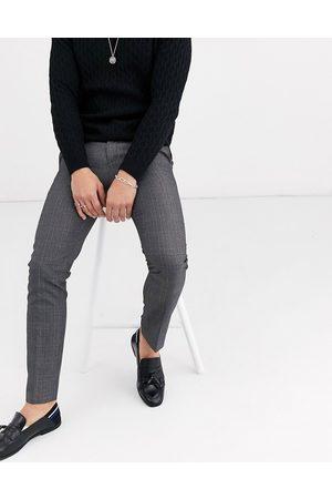 Burton Pantaloni skinny eleganti grigi a quadri