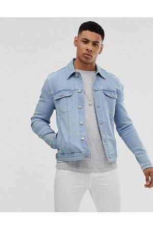 ASOS Giacca di jeans stile western skinny lavaggio candeggiato