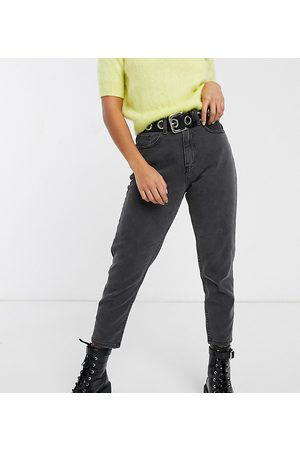 Noisy May Mom jeans alla caviglia neri