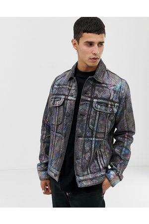 ASOS Giacca di jeans con stampa laminata