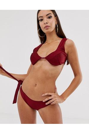 In The Style Top bikini scollo profondo con coppe