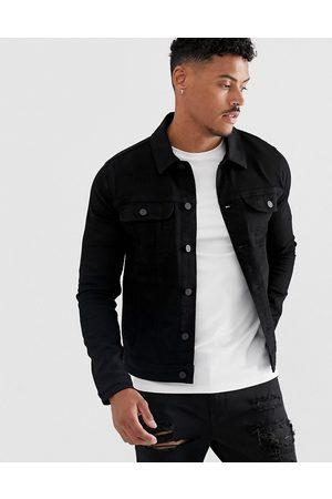 ASOS Giacca di jeans stile western skinny nera