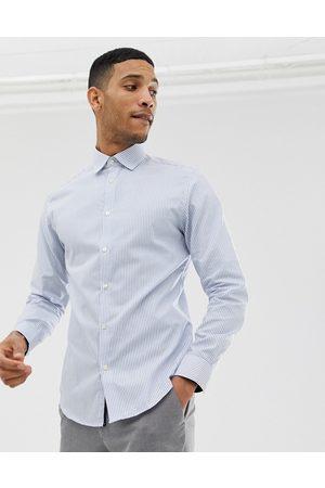 Selected Camicia slim elegante a righe azzurre facile da stirare