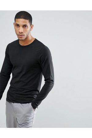 Jack & Jones Essentials - Maglietta a maniche lunghe nera