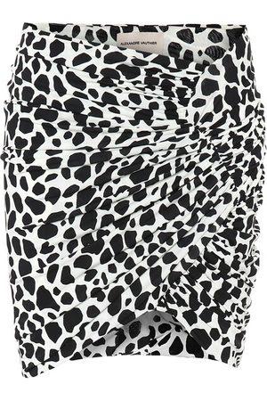 ALEXANDRE VAUTHIER Esclusiva Mytheresa - Minigonna a stampa animalier in jersey