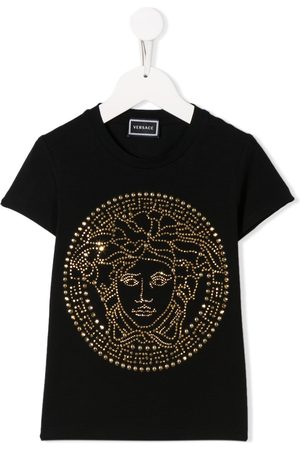 Young Versace T-shirt con borchie