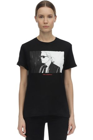 Karl Lagerfeld T-shirt In Jersey Di Cotone