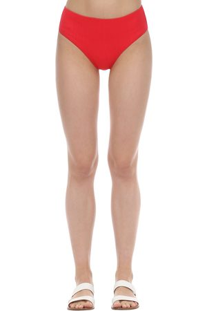 Ganni Slip Bikini Vita Alta Texturizzati