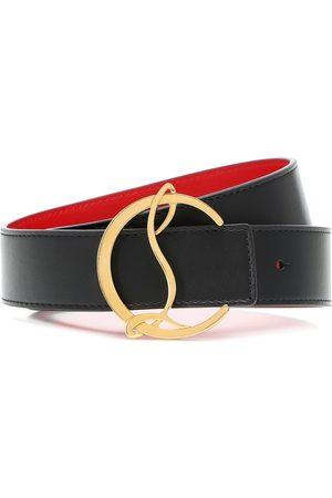 Christian Louboutin Cintura reversibile CL Logo in pelle