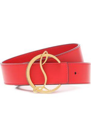 Christian Louboutin Cintura CL Logo in pelle