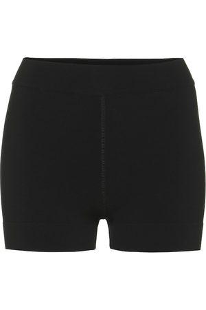 Alaïa Shorts a costine in maglia stretch