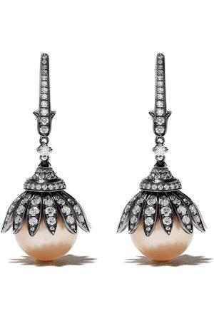 ANNOUSHKA Orecchini in 18kt, diamanti e perla dei Mari del Sud - 18ct White Gold