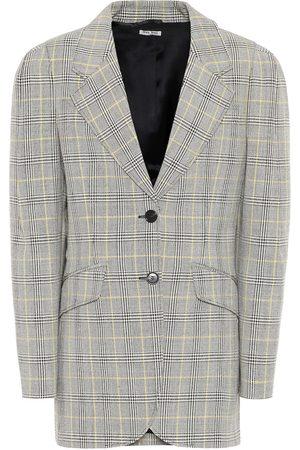 Miu Miu Blazer in lana principe di Galles