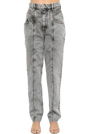 "Isabel Marant Jeans Vita Alta ""henoya"" In Denim Di Cotone"