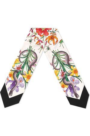 Gucci Donna Sciarpe - Fiocco 'Blooms' - Color carne