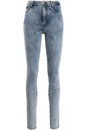 Philipp Plein Donna Jeans a vita alta - Jeggings a vita alta - Di colore