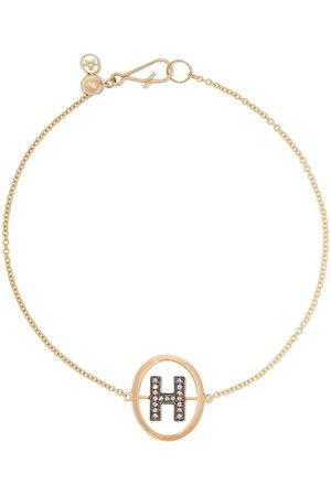 ANNOUSHKA Bracciale in 18kt e diamanti con lettera H - 18ct Yellow Gold