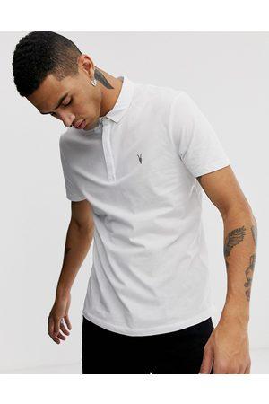 AllSaints Brace - Polo bianca con logo teschio di ariete