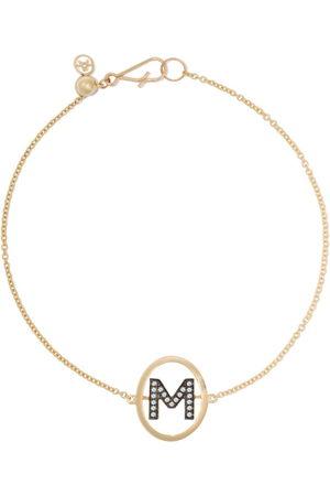 ANNOUSHKA Bracciale in 18kt e diamanti con lettera M - 18ct Yellow Gold
