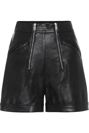 Stella McCartney Shorts in similpelle con zip