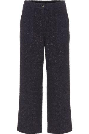 Etro Pantaloni cropped in tweed