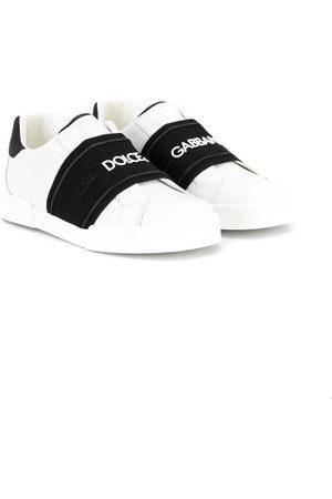 Dolce & Gabbana Sneakers senza lacci con banda logo