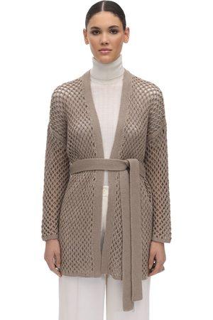 Agnona Cardigan In Maglia Di Cashmere Con Cintura