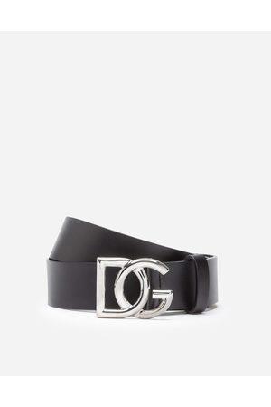 Dolce & Gabbana Cinture - CINTURA IN CUOIO CON LOGO DG INCROCIATO