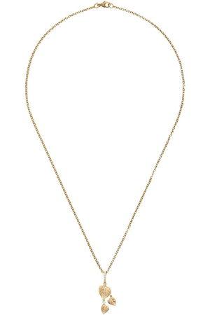Kiki Mcdonough Collana con pendente a tre foglie in 18kt e diamanti Lauren - YELLOW GOLD