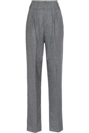 Isabel Marant Pantaloni Magali a quadri in lana