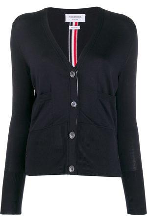 Thom Browne Donna Cardigan - Cardigan con scollo a V e vestibilità comoda