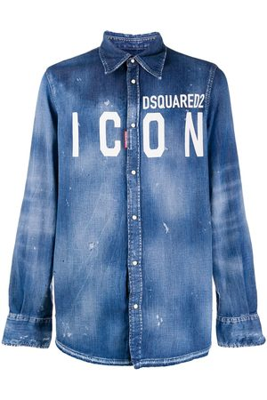 Dsquared2 Camicia denim ICON con logo