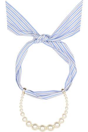 Miu Miu Collana foulard con perle sintetiche