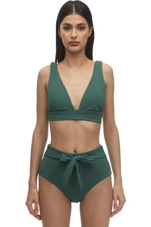 """Eberjey Top Bikini """"vivian"""" In Nylon Piqué Stretch"""