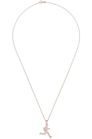 777 Uomo Collane - Collana con pendente corridore in oro rosa 18kt e diamante - 107 - Metallic:
