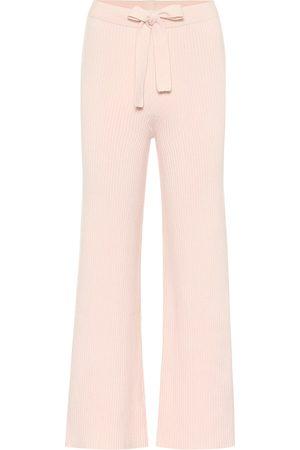 LIVE THE PROCESS Pantaloni in maglia di misto cotone e seta