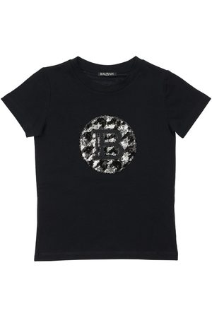 Balmain Sequined Cotton T-shirt