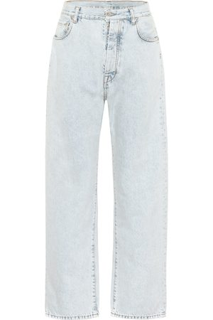 UNRAVEL Jeans a vita alta cropped