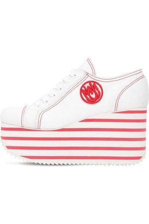 Miu Miu Sneakers In Cotone Con Platform 100mm