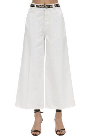 Stella McCartney Jeans Cropped In Denim Di Cotone