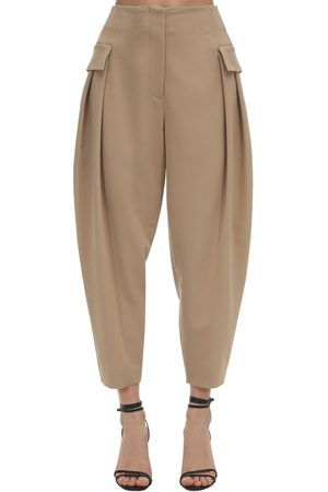 Stella McCartney Pantaloni Cargo In Lana Stretch