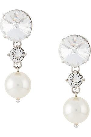 Miu Miu Orecchini con cristalli e perle - Effetto metallizzato