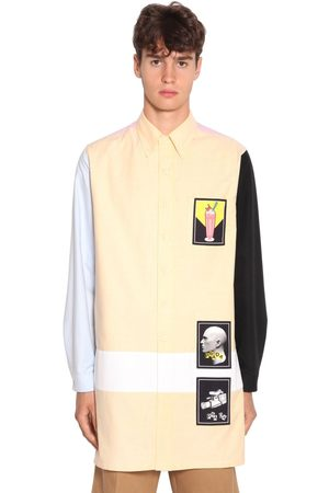 Prada Camicia In Cotone Oxford Color Block
