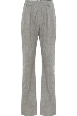 MATTHEW ADAMS DOLAN Pantaloni a vita alta in lana stretch