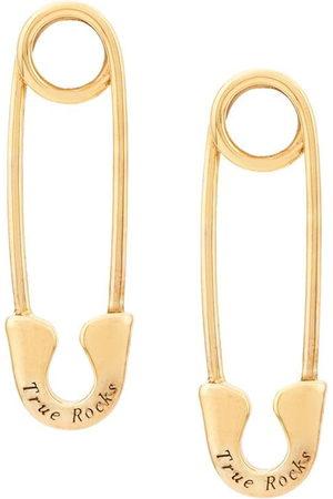 TRUE ROCKS Orecchini a forma di spilla - Gold