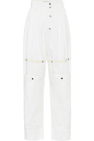 Etro Pantaloni a vita alta in misto cotone