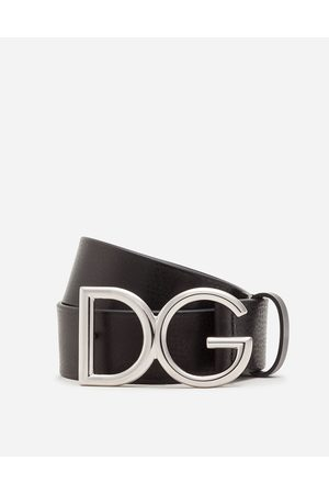 Dolce & Gabbana Collection - CINTURA IN CUOIO BOTTALATO CON LOGO DG