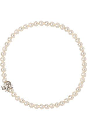 Miu Miu Donna Collane - Collana con perle - F0QCD CREAM/CRISTAL