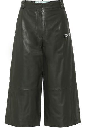 OFF-WHITE Pantaloni culottes in pelle